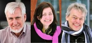 Zleva: John O'Keefe, May-Britt Moser a Edvard I. Moser