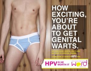 Kampaň na podporu prevence HPV s názvem Stojí za to?, kterou pořádala společnost Women's Oncology Research & Dialogue, poukazuje na to, že virus může způsobit nejen rakovinu, ale také mnohem častější genitální bradavice. Foto: behance.net