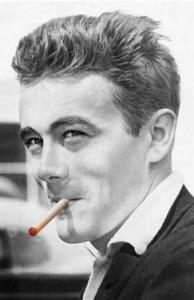James Dean s elektronickou cigaretou. Jak se vám líbí? Repro: Slovosled.com