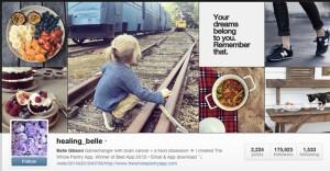 Když se na tento obrázek budete dívat dostatečně dlouho, uzdraví vás z rakoviny. Prý. Repro: Instagram Belle Gibsonové.
