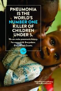 Zabiják číslo jedna u dětí mladších pěti let, to je pneumonie.