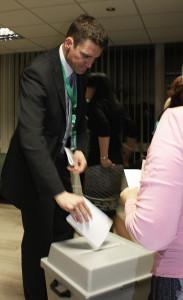 Michal Hojný byl zvolen do představenstva, ale už nechtěl pokračovat ve funkci viceprezidenta. Foto: TC