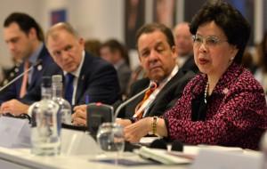 Jednání se účastnila i ředitelka WHO Margaret Chan.